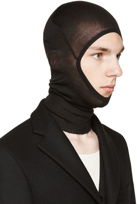 Rik Black rick owens black wool balaclava in black for lyst