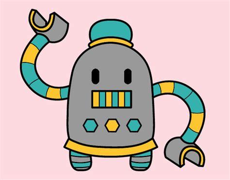 film robot e bambino disegno robot con braccia lunghe colorato da walviolet il