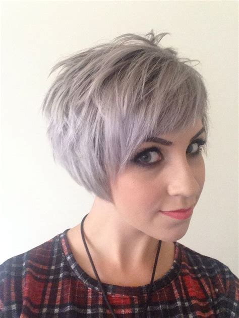 short silver blonde hair short assymetric undercut grey silver blonde hair mac