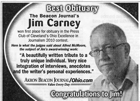 obituary section bj alums bj promo ad touts award to jim carney