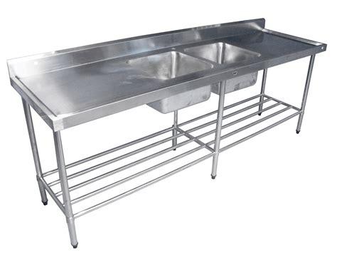 Sink Pot Rack kss 2400mm sink w splashback and adjustable pot rack concorde food equipment