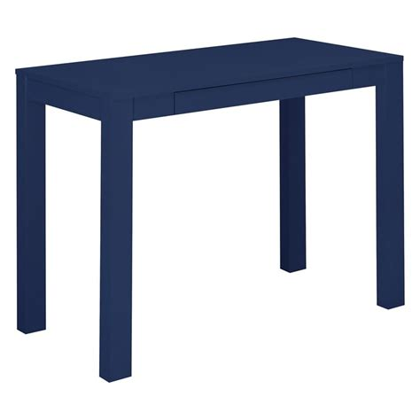 Navy Desk L Writing Desk With Drawer In Navy 9859496com