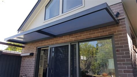 sliding door awning slimline awnings over sliding door eco awnings