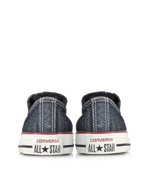 Converse Navy Denim converse chuck all ox denim slip on sneaker in blue for lyst