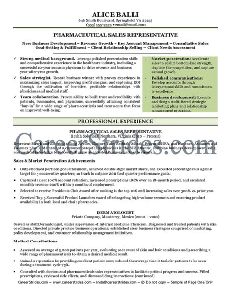 pharmaceutical resume sle exle by a nationally certified resume writer