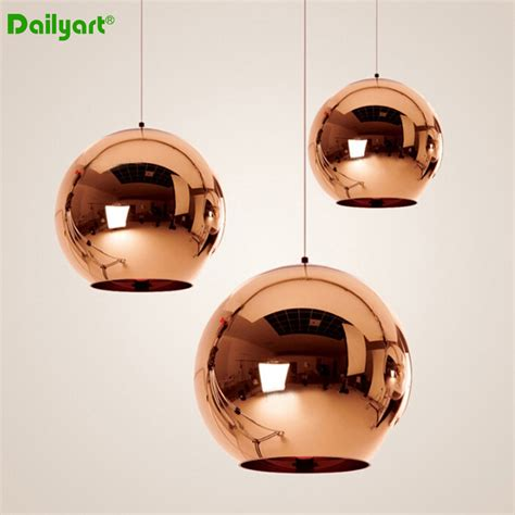 modern ball shaped hardware led pendant lighting for kitchen 40w modern bronze mirror round shape golden hanging indoor