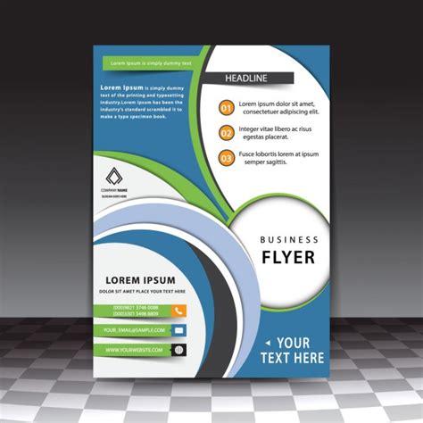 Flyer Vorlage Blau Blau Modernen Business Brosch 252 Re Vorlage Der Kostenlosen Vektor