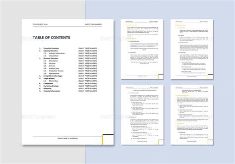 bdc business plan template business development plan template in word docs