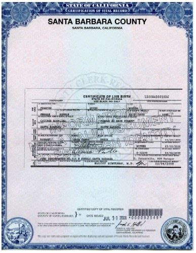 California Vital Records Certificate Santa Barbara County Birth Certificate California Get Vital Record Birth Certificate