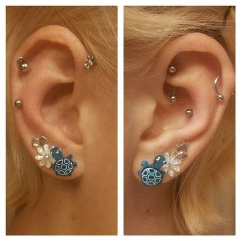 ear piercing combinations shh dont tell mom pinterest