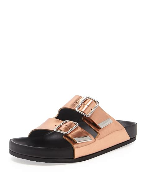 Metallic Sandal lyst givenchy swiss metallic flat sandal in metallic