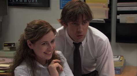 Jim And Pam The Office by Jim And Pam From The Office Were Kinda In The Whole