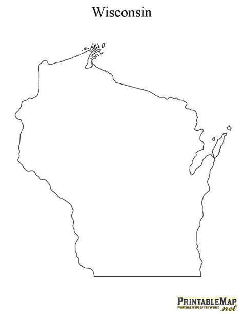 wisconsin state map printable map of wisconsin state map of wisconsin