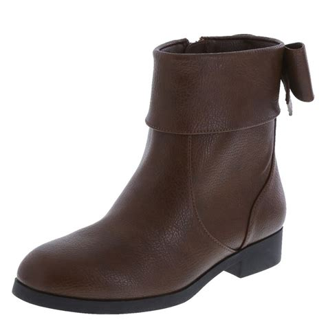 payless brown boots boot styled with a bow liv and maddie payless