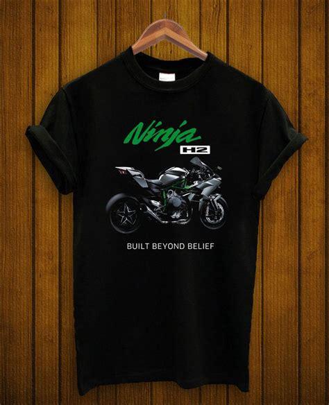 kawasaki t shirt motor cycle logo printed h2 racing new black s m l xl logos racing