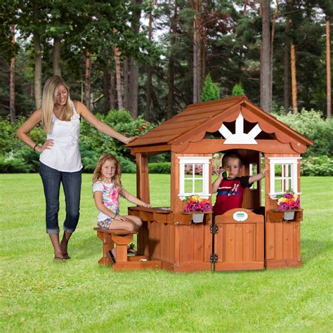 backyard play houses backyard discovery scenic playhouse outdoor playhouses at hayneedle