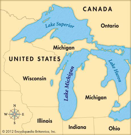 michigan in world map lake michigan britannica homework help