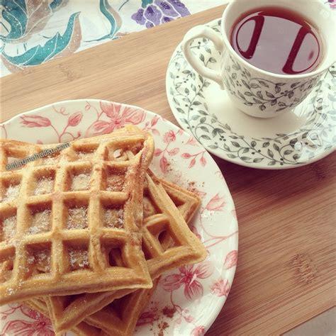 Cetakan Banana Crispy ceritanya vanilla butterscotch belgian waffles