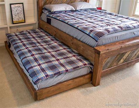 rolling bed frame diy rolling trundle bed plans infarrantly creative