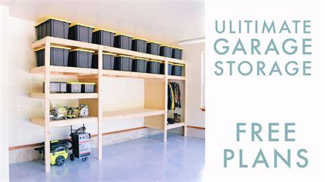 diy garage storage shelf workbench solution
