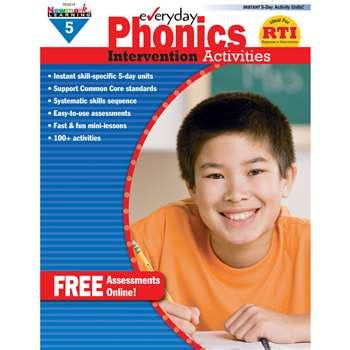 Everyday Phonics Gr 5 Intervention Activities By Newmark