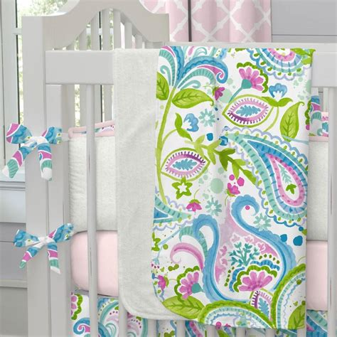 Crib Bedding Fabric Orchid Painted Paisley Fabric By The Yard Pink Fabric Carousel Designs