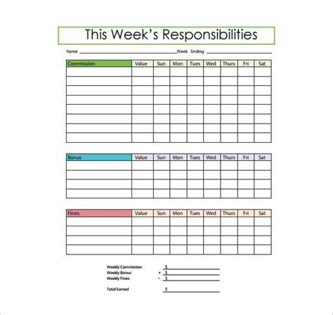 responsibility chart template doc roles and responsibilities template word