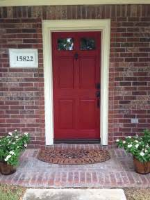 door color for brick house front door to boost positive energy of your house
