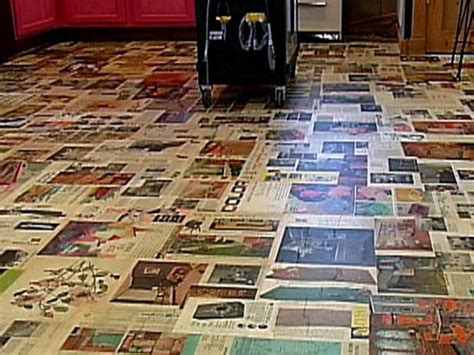 Decoupage Floors Diy - decoupage floor treatment diy