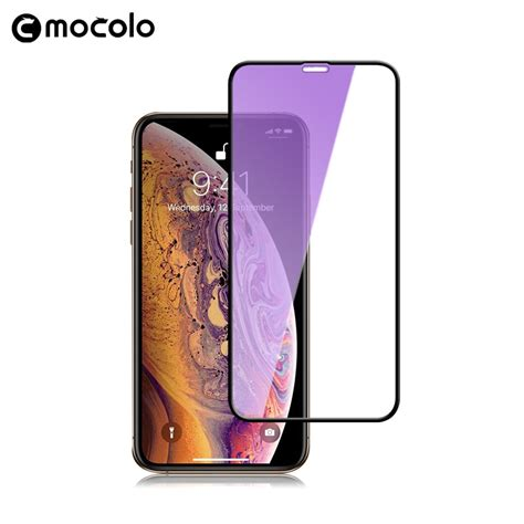 for iphone xs screen protector mocolo cover for iphone xr anti blue 9h for iphone