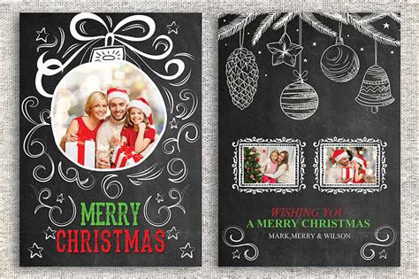merry photo card template 18 printable thank you card templates free