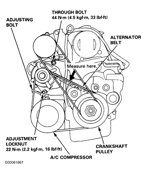 honda accord  serpentine belt diagram wiring diagram