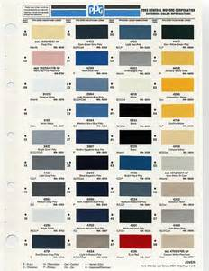 gm color codes gm color chips color chip selection auto paint colors