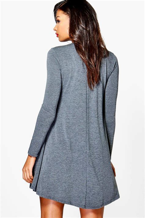 swing dress long sleeve boohoo womens april long sleeve swing dress ebay