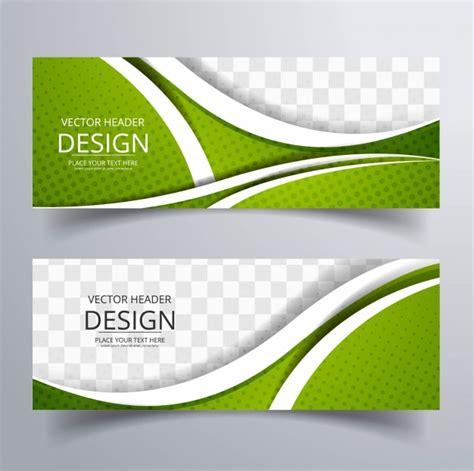design banner green modern green wavy banners vector free download