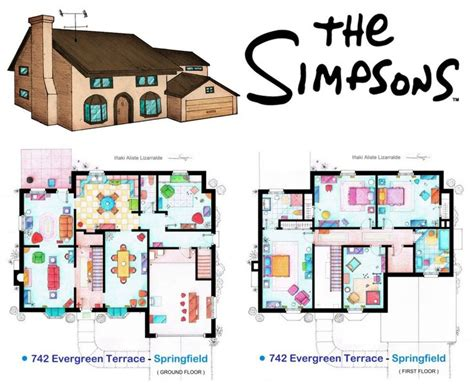 floor plan of the simpsons house dise 241 o de plata de la casa de los simpson vielka vasquez