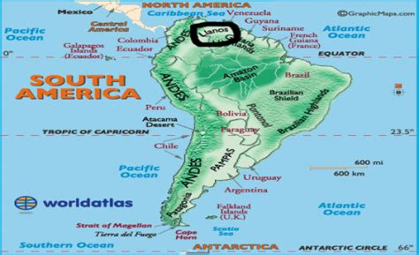 south america guiana highlands map flashcards table on america physical features