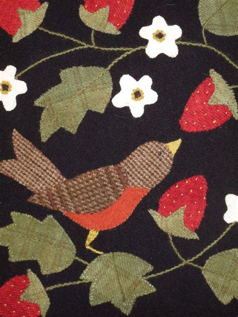 Wool Applique Quilt by Wool Applique Hollyhill Quilt Shoppe From Bonnie S