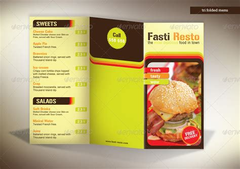 tri fold menu fasti resto by milana graphicriver