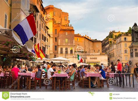 ci de fiori piazza co de fiori in rome italy editorial photo