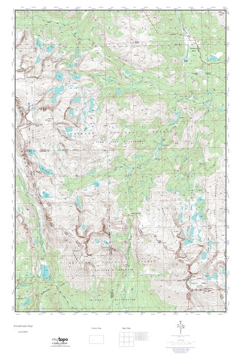Sweetwater Gap by Mytopo Sweetwater Gap Wyoming Usgs Topo Map