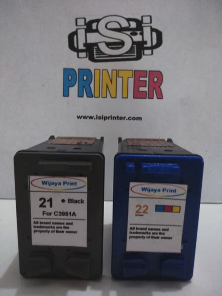 Tinta Hp 21 Black By Inksupplier hp 21 inkjet black ink cartridge c9351an isi printer