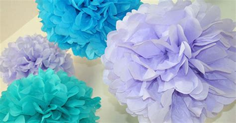 How To Make Big Tissue Paper Pom Poms - how to make tissue paper pom poms thoughtfully simple