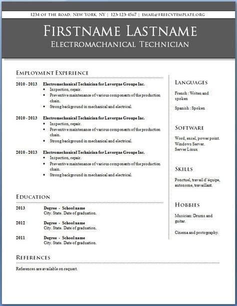 microsoft 2010 resume templates microsoft resume templates 2010 resume ideas