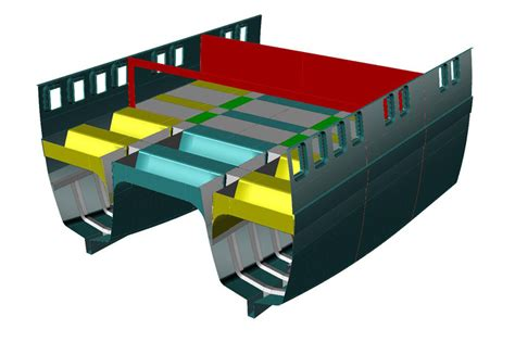 catamaran hull structure offer big yachts sailing ships small vessels building