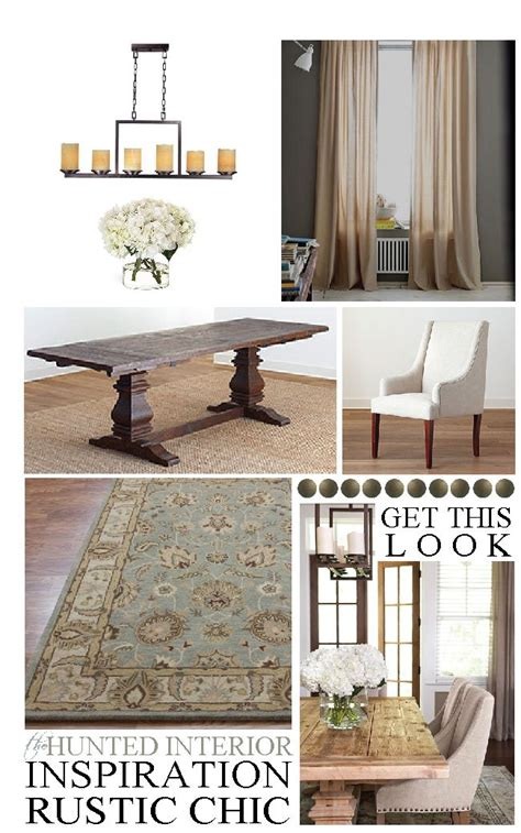 Rustic Chic Dining Table Get This Look Rustic Chic Dining Room H U N T E D I N T E R I