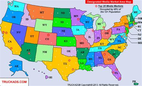 san francisco dma map truck ads 174 designated market map a d m a p 1 800