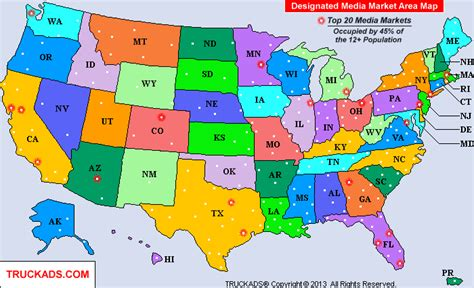 TRUCK ADS®   Designated Market Map   A D M A P   1 (800