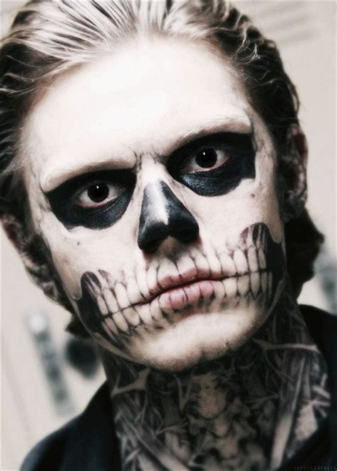 evan peters tattoos tate langdon in american horror story my