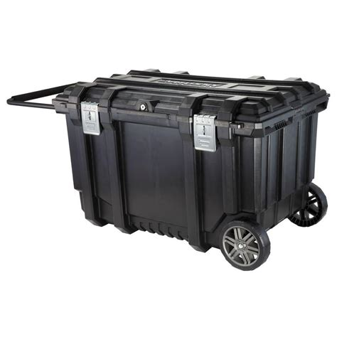 husky 37 in mobile box utility cart black 209261